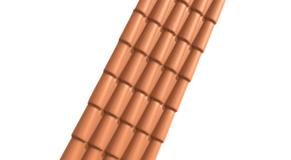 Telha de PVC Colonial Cerâmica 2,30mx88cm